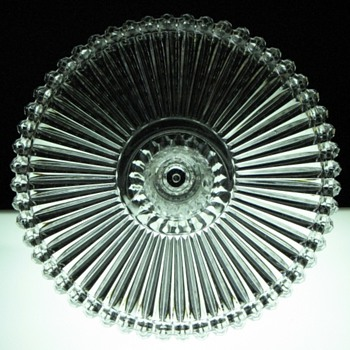Crown Jewel - Crystal Cake Stand by O'Hara Glass Company, ca.1888