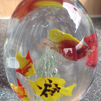 Fish aquarium paper weight, Murano? - Art Glass