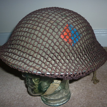 British WWII Artillery combat helmet
