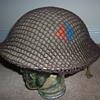British WWII Artillery combat helmet