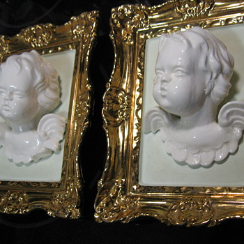 Ceramic Porcelain 3-D Angel Cherubs  - Victorian Era