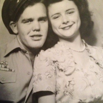 Vintage photo of my grandparents 1946 - Photographs