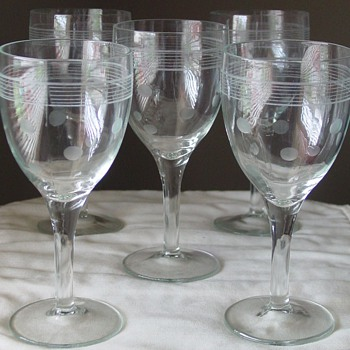 """Soap Powder""? Wine/Water Goblets - Glassware"