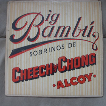 cheech and chong big bambu with rolling paper still with it