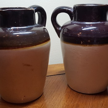 Pair of Stoneware Pitchers