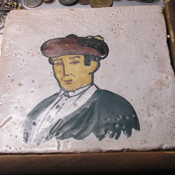 Ceramic tile important to frame  - Art Pottery