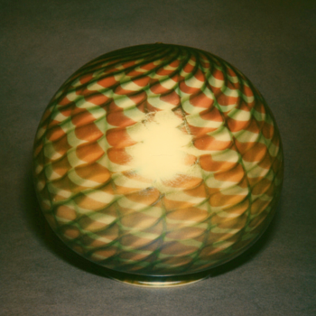 QUEZAL ART GLASS GLOBE SHADE - Art Glass