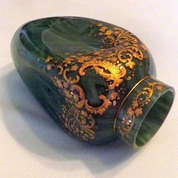 Early Loetz Marmoriertes Malachit DEK Prod. Nr. I-200 Enamelled Vase
