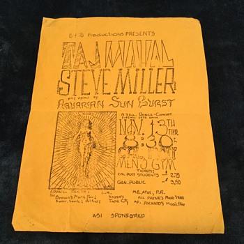 Taj Mahal Steve Miller $2.75.  $3.50