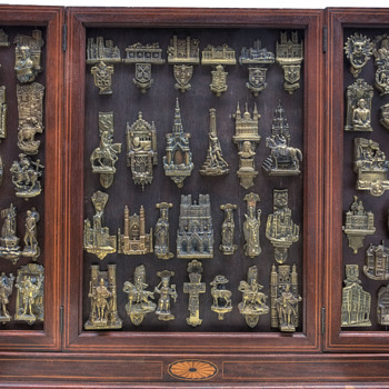 Some of my antique brass door knocker collection