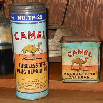 Vintage Camel Tire Patch Kits - Tools and Hardware