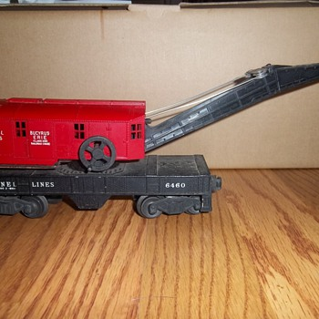 Lionel Trains Collection- Bucyrus Erie red crane #6460 - Model Trains