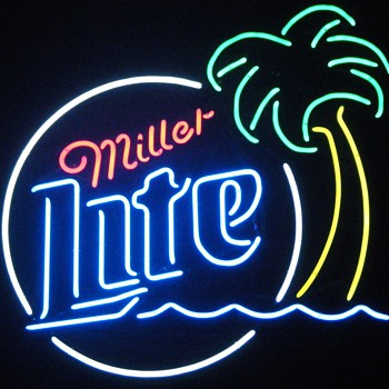 Miller Lite Palm Tree Neon - Signs