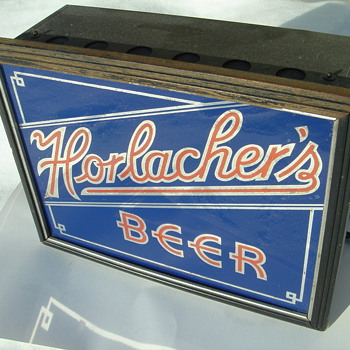 1930's Horlacher's BEER lighted sign-Allentown,Pa. - Breweriana