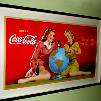 1944 Coca-Cola Cardboard Display Sign - Coca-Cola