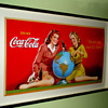 1944 Coca-Cola Cardboard Display Sign