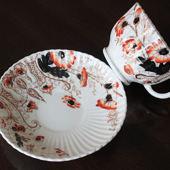"LOVELY ANTIQUE TEACUP SAUCER ""GAWDY WELCH"" ?? - China and Dinnerware"