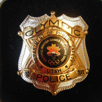 MINT UTAH POLICE  2002 OLYMPIC WINTER GAMES BADGE BY SIMBOL ARTS - Medals Pins and Badges