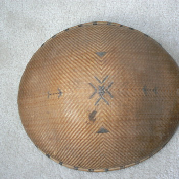 WWII era woven bamboo hat - military?
