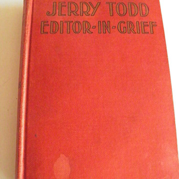 Jerry Todd,Editor-In-Grief, copyright 1930