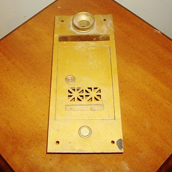 Vintage Brass Mailbox with Buzzer