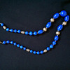 Blue Lapis Glass (?) necklace Anyone know the period and Maker