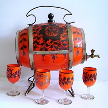 CZECH GLASS BARREL SETS - Art Glass
