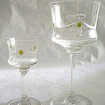STEIGERWALD STEM SET. - Art Glass