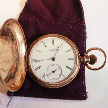 "Nice ""Little"" Hunter Elgin 14k Gold Pocket Watch Circa 1883 - Pocket Watches"