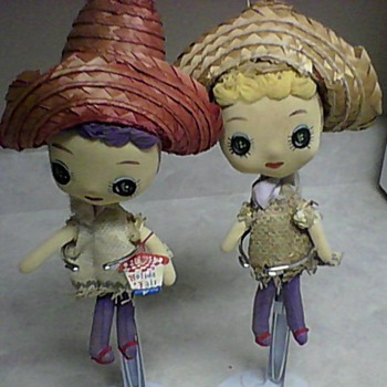 TWO HOLIDAY FAIR DOLLS