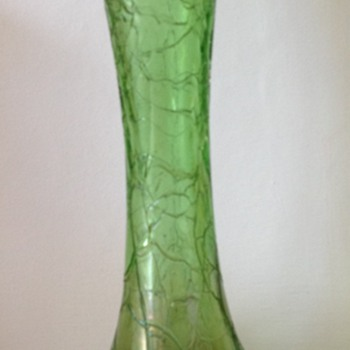 Kralik (?) craquele iridescent glass vase - Art Glass