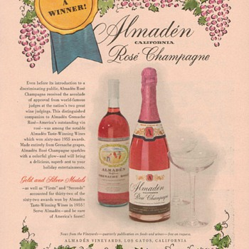 1955 Almaden Winery Advertisement - Advertising