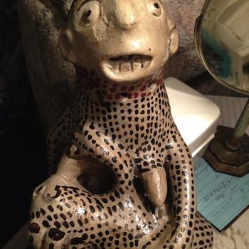 Breastfeeding mexican folk art statue - Folk Art