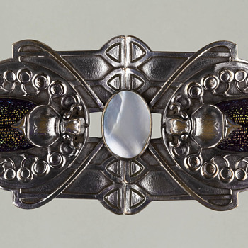 Piel Freres Belt Buckle - Art Nouveau