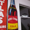 1940&#039;s Royal Crown Cola Tin Embossed Die Cut Sign