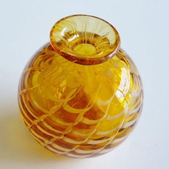 Paperweight Vase - name of technique? - Art Glass