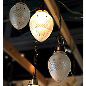 Arts & Crafts 4 Light Pendant with Glass Torpedo Shades - Lamps