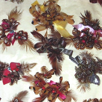 Handmade pheasant corsages, Deadwood, South Dakota  - Costume Jewelry