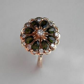 Antique Diamond & Tourmaline Ring - Fine Jewelry