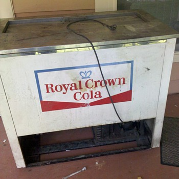 Royal Crown Cola cooler - Advertising
