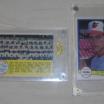 1958 Topps Yankees Team Card, 1982 Donruss Cal Ripken Jr. Rookie Card - Baseball