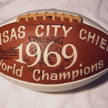 1969 SuperBowl IV Champion Chiefs Autographed Football - Football