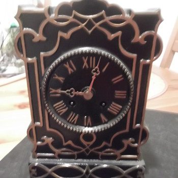 Unknown Black Mantel Clock - Clocks
