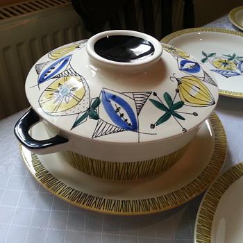 1950's Norwegian Dinner Service/ Stavangerflint Designed by Inger Waage