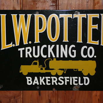 L.W. POTTER TRUCKING CO.Sign - Signs