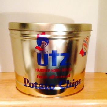 Utz potato chip can! - Advertising