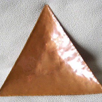 Copper Triangle Mini-Tray - Arts and Crafts