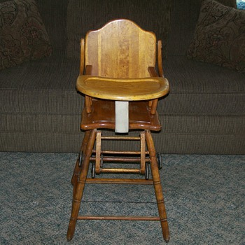 1920 combo Highchair/Potty Chair/Stroller