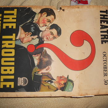 The Trouble With Wives 1929 theatre poster