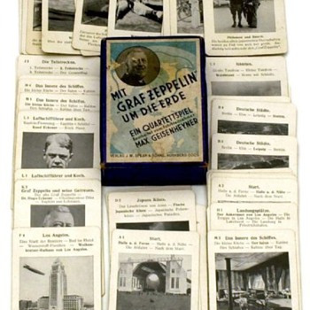 1929 GERMAN GRAF ZEPPELIN GAME 'WITH GRAF ZEPPELIN AROUND THE WORLD'